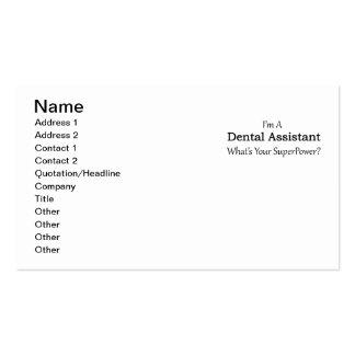 Dental Assistant Pack Of Standard Business Cards
