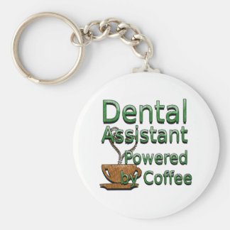 Dental Assistant Powered by Coffee Key Ring