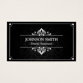 Dental Assistant - Shadow of Damask Business Card