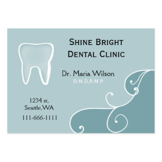 Dental businesscards with appointment card business card templates