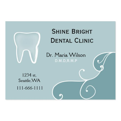 Dental businesscards with appointment card pack of chubby business cards
