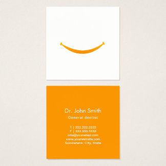 Dental Care Big Smile Minimalist Dentist Square Business Card