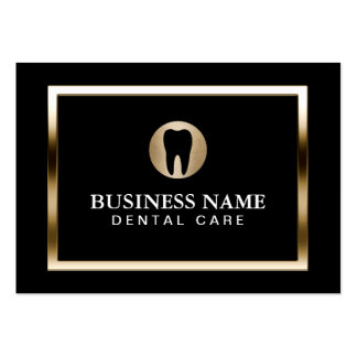 Dental Care Modern Gold Border Dentist Pack Of Chubby Business Cards