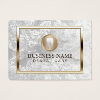 Dental Care Modern Marble Gold Border Dentist