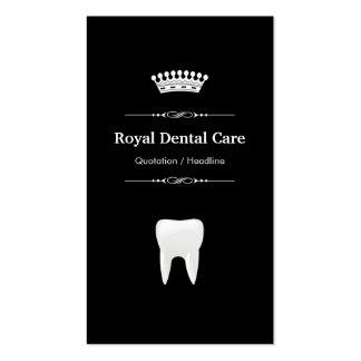 Dental Care - Professional Modern Black White Pack Of Standard Business Cards