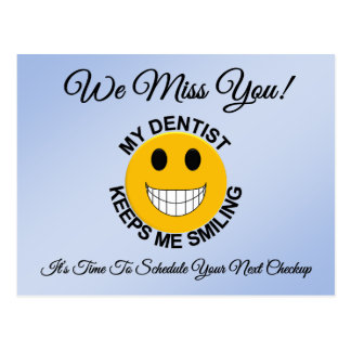Dental Checkup Appointment Reminder Postcard