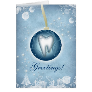 Dental Christmas Greeting Card Ice Blue