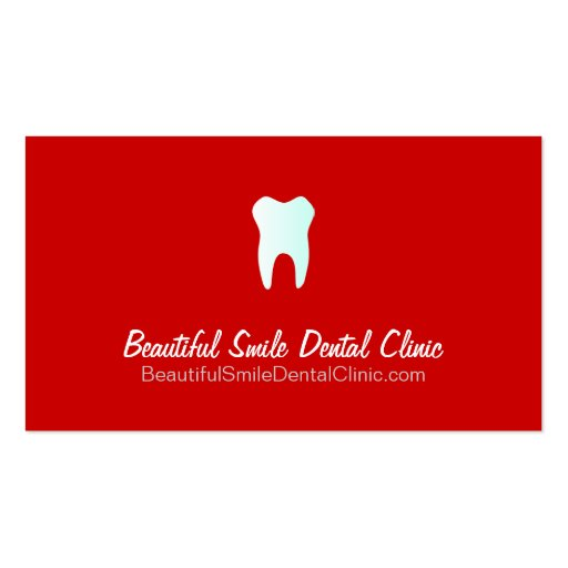 Dental Clinic Appointment Cards- Color changeable Business Card