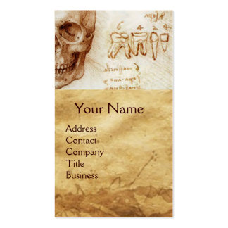 DENTAL CLINIC ,DENTIST MONOGRAM ,Antique Parchment Business Cards
