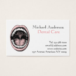 Unique dental business cards business card printing zazzle dental dentist business card reheart Image collections