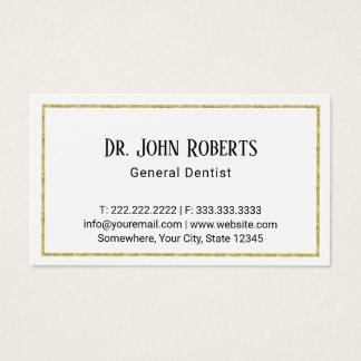 Dental Dentist Elegant Gold Framed Business Card