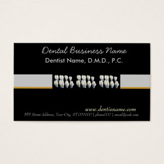 Dental Dentist Oral Care White Teeth Business Card