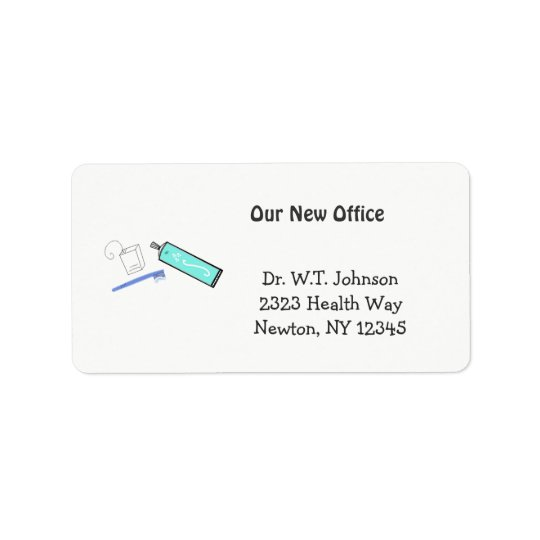 Dental Design New Address Label