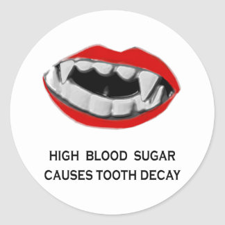 dental humor classic round sticker