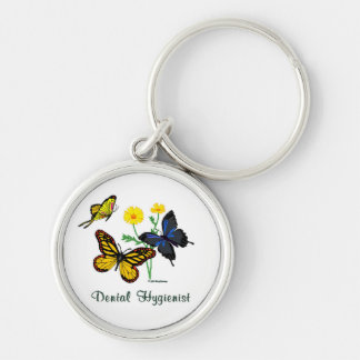 Dental Hygienist Butterflies Key Ring