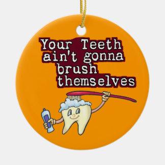 Dental Hygienist Ceramic Ornament