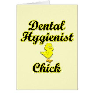 Dental Hygienist Chick Card
