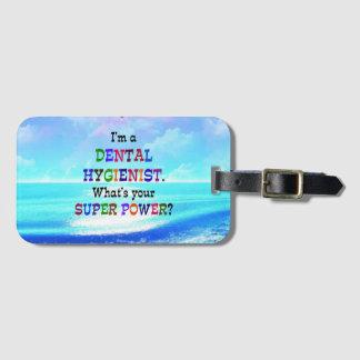 Dental Hygienist, Colorful Design Luggage Tag