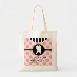 Dental Hygienist Tote Bag Pink Polka Dots