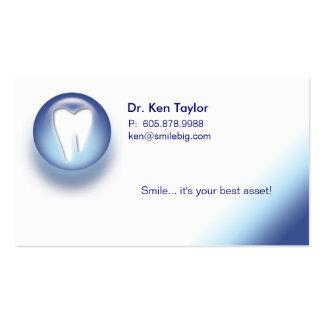 Dental Molar Logo Appointment Business Card Blue