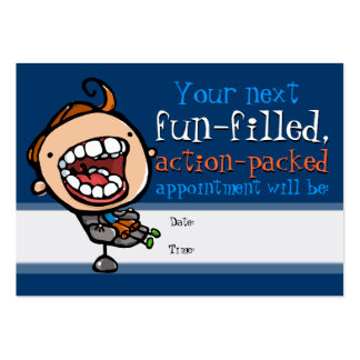 Dental office appointment card pack of chubby business cards