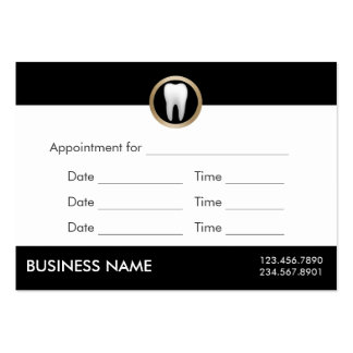 Dental Office Appointment Professional Dentist Pack Of Chubby Business Cards