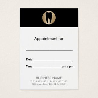 Dental Office Gold Tooth Dentist Appointment