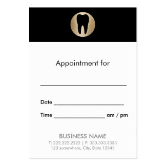Dental Office Gold Tooth Dentist Appointment Pack Of Chubby Business Cards
