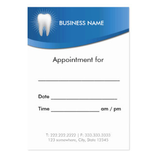 Dental Office Modern Blue Dentist Appointment Pack Of Chubby Business Cards