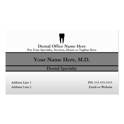 dental office pack of standard business cards