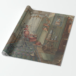 Dental Operating Room Watercolor Gouache Vintage Wrapping Paper