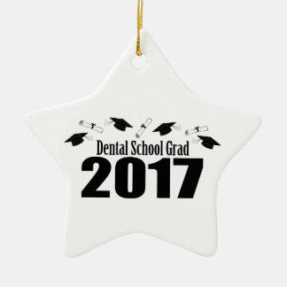 Dental School Grad 2017 Caps And Diplomas (Black) Ceramic Star Decoration