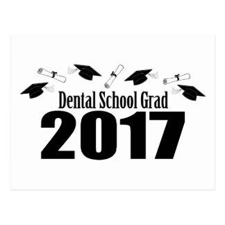Dental School Grad 2017 Caps And Diplomas (Black) Postcard
