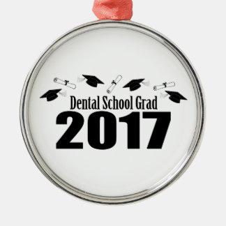Dental School Grad 2017 Caps And Diplomas (Black) Silver-Colored Round Decoration