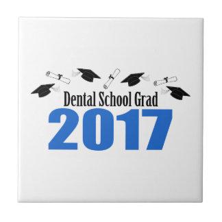 Dental School Grad 2017 Caps And Diplomas (Blue) Ceramic Tile