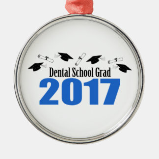 Dental School Grad 2017 Caps And Diplomas (Blue) Silver-Colored Round Decoration