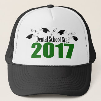 Dental School Grad 2017 Caps And Diplomas (Green)