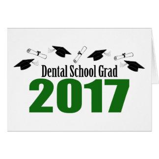 Dental School Grad 2017 Caps And Diplomas (Green) Card
