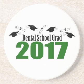 Dental School Grad 2017 Caps And Diplomas (Green) Coaster