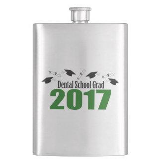 Dental School Grad 2017 Caps And Diplomas (Green) Hip Flask