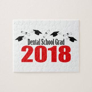 Dental School Grad 2018 Caps And Diplomas (Red) Jigsaw Puzzle