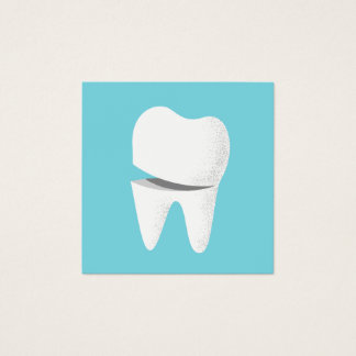 Dental Smiling Tooth Minimalist Dentist Square Business Card