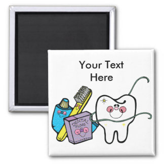 Dental Stuff for Dentist Day March 6th Square Magnet