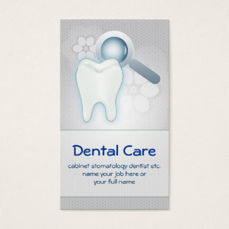 dental teeth tooth business card