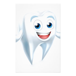 Dental Tooth Mascot Stationery