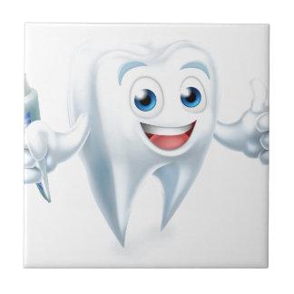 Dental Tooth Mascot Tile