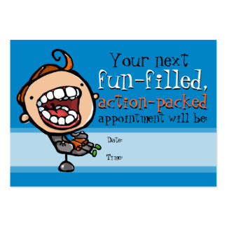 Dentist appointment reminder card pack of chubby business cards