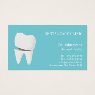 Dentist Appointment Smiling Tooth Dental Office Business Card