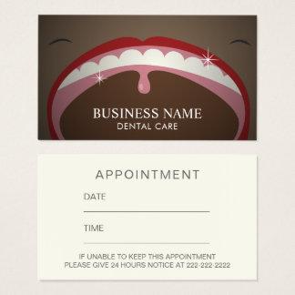 Dentist Big Smile Dental Appointment Reminder Business Card