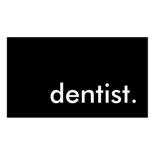 dentist. business card
